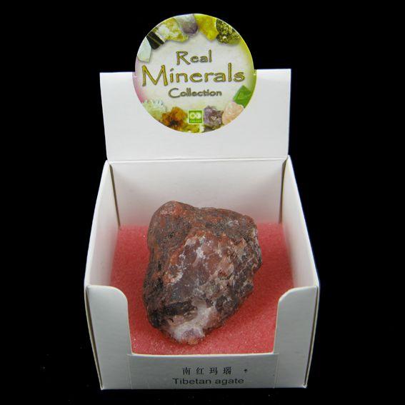 Агат тибетский  минерал/камень в коробочке Real Minerals Collection