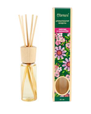 Ароматизатор тростниковый Персик-Маракуйя Elfarma (45 мл) elfarma ароматизатор воздуха с натуральным эфирным маслом гортензия 45 мл