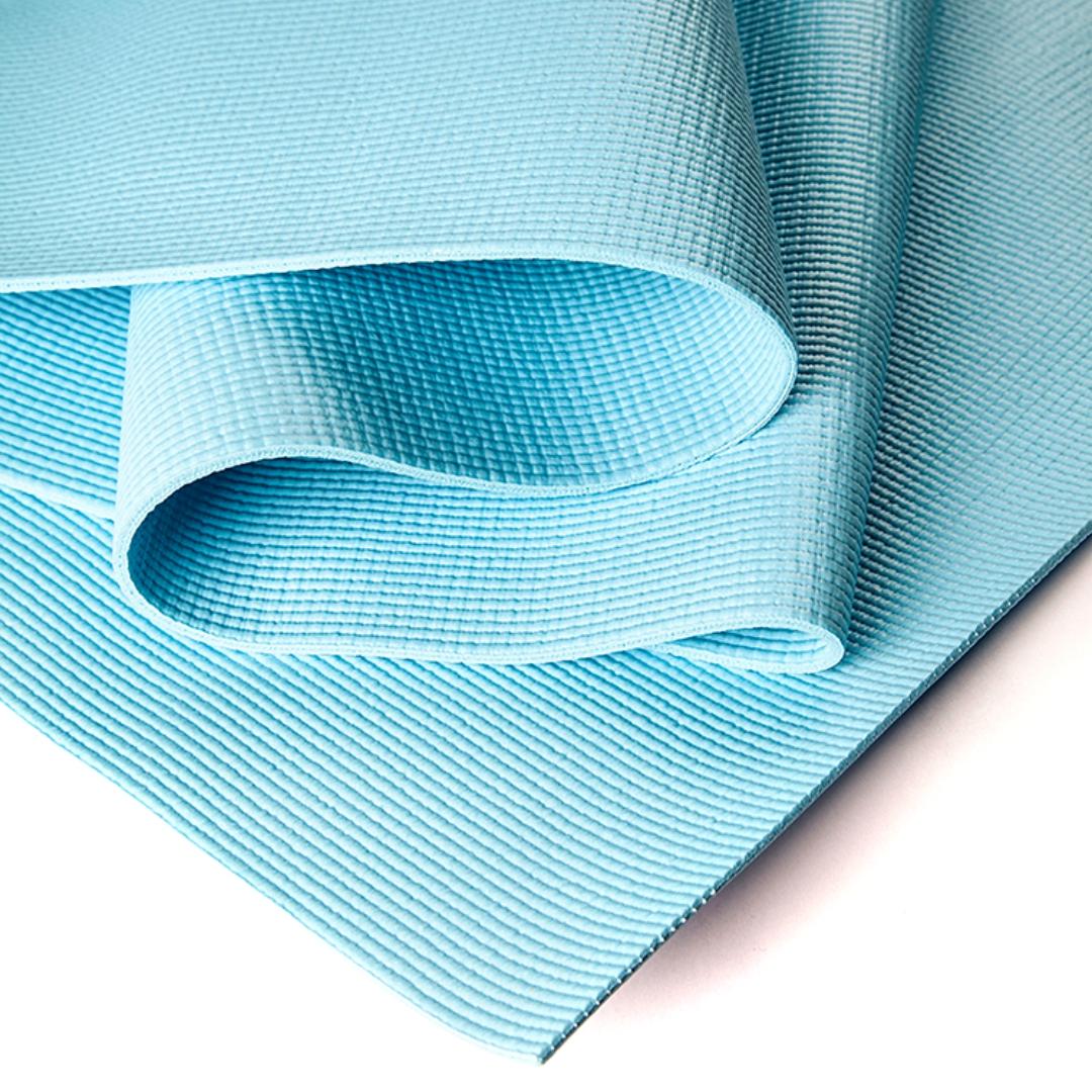 Коврик для йоги Асана Стандарт 4мм (1 кг, 185 см, 4 мм, голубой, 60см) коврик для йоги асана стандарт 4мм 1 кг 185 см 4 мм фиолетовый 60см
