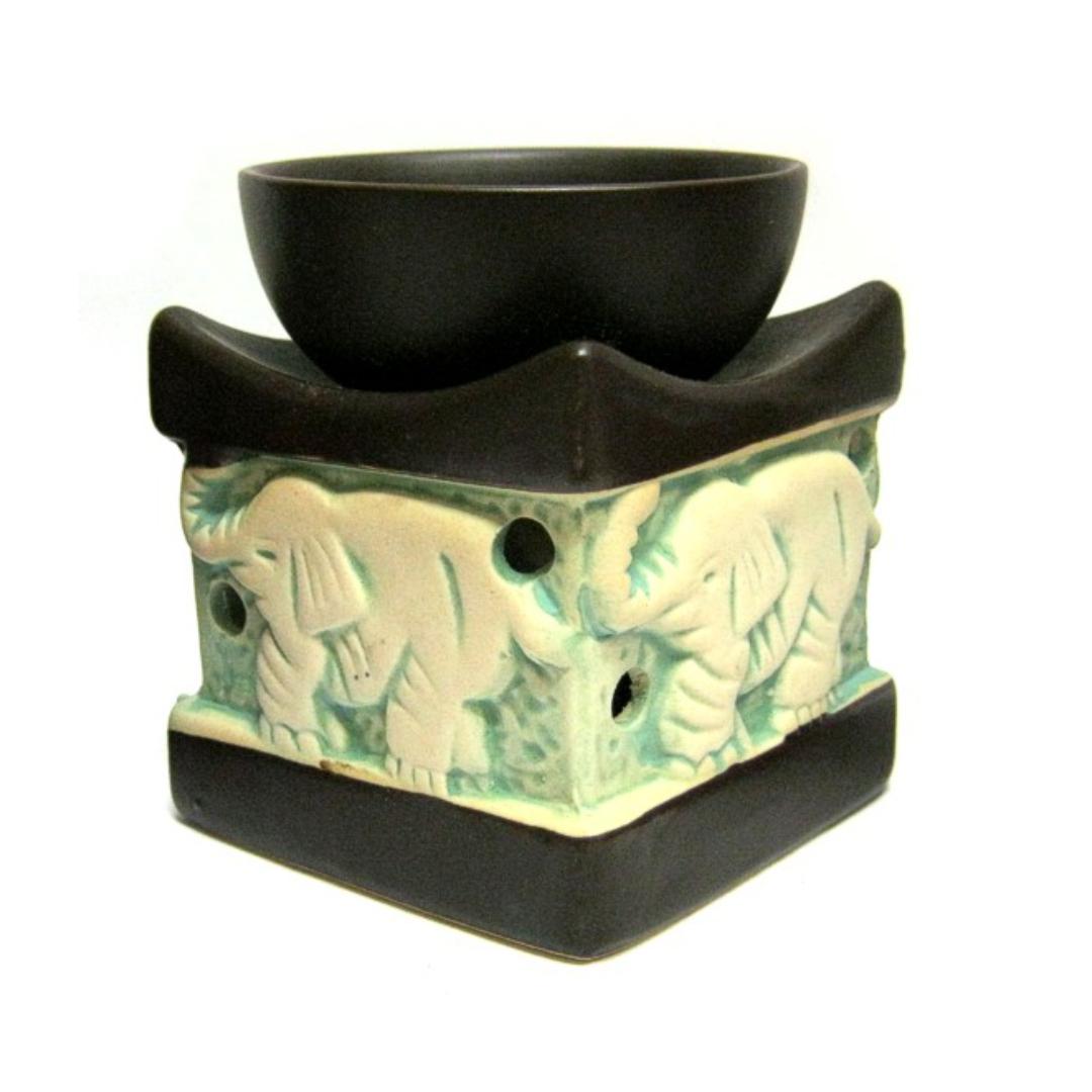 цена Аромалампа квадратная Слон керамика 10см (М041-2) онлайн в 2017 году