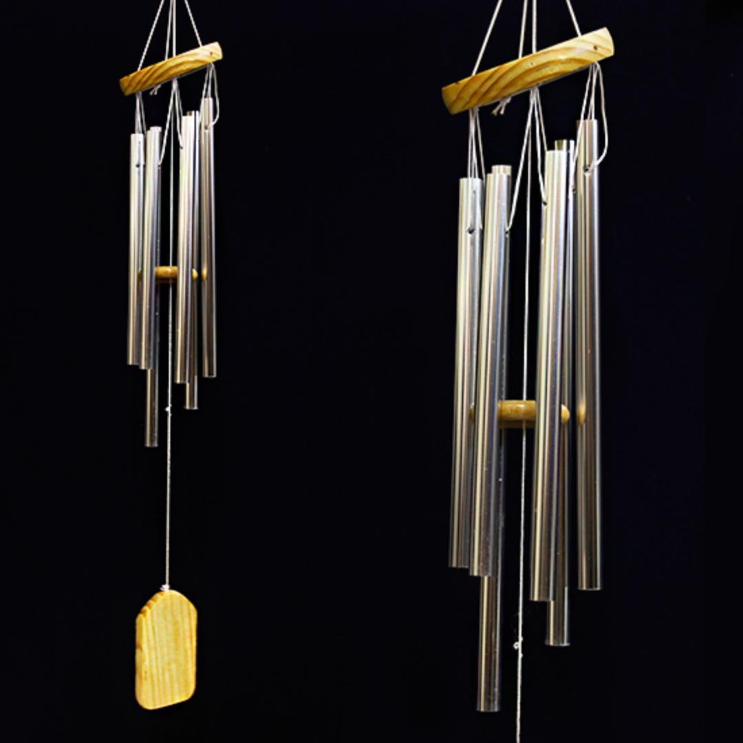 Музыка ветра 6 палочек из дерева и металла 62 см