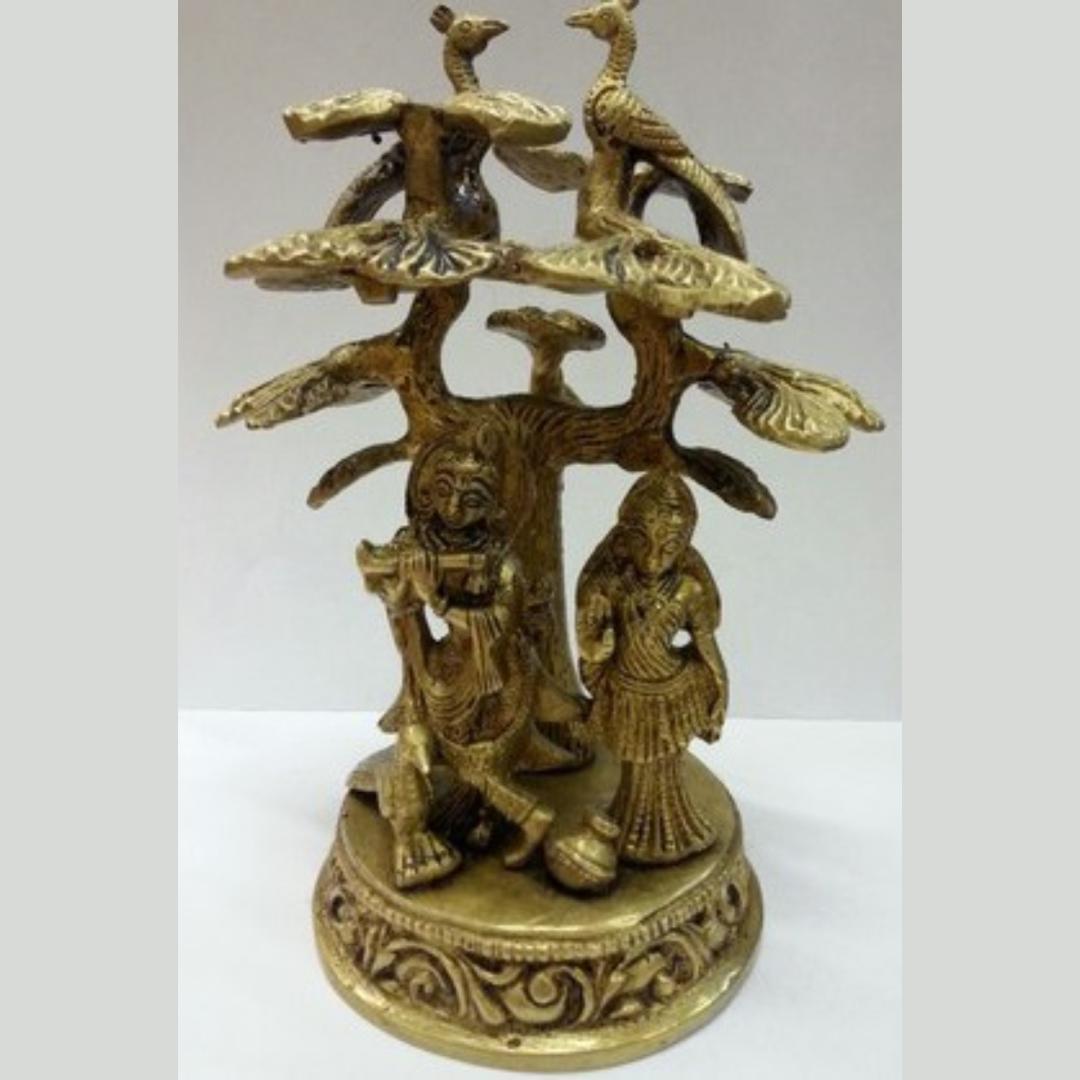 Статуэтка Кришна и Радха под деревом, бронза 16см (Статуэтка Кришна и Радха под деревом, бронза 16см арт.805) цена