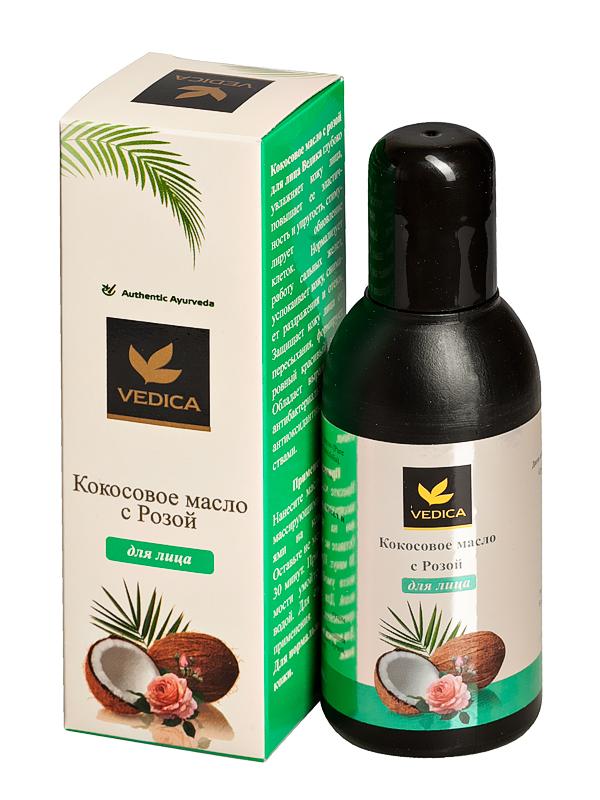 Масло кокосовое для лица с Розой Veda Vedica ( Veda Vedica 100 мл ) веда ведика масло кокосовое 100мл