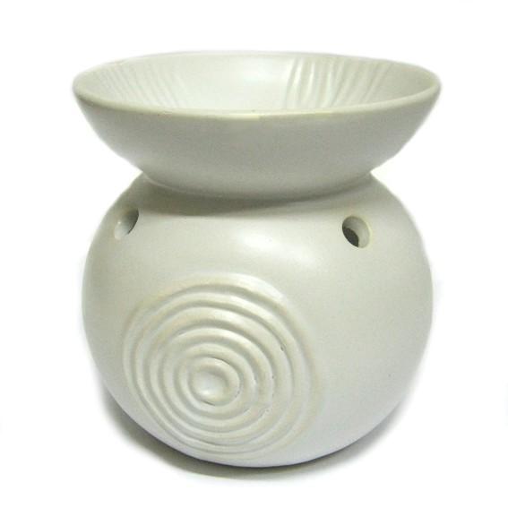 Аромалампа круглая со спиралью белая керамика 11см аромалампа рука керамика 10см