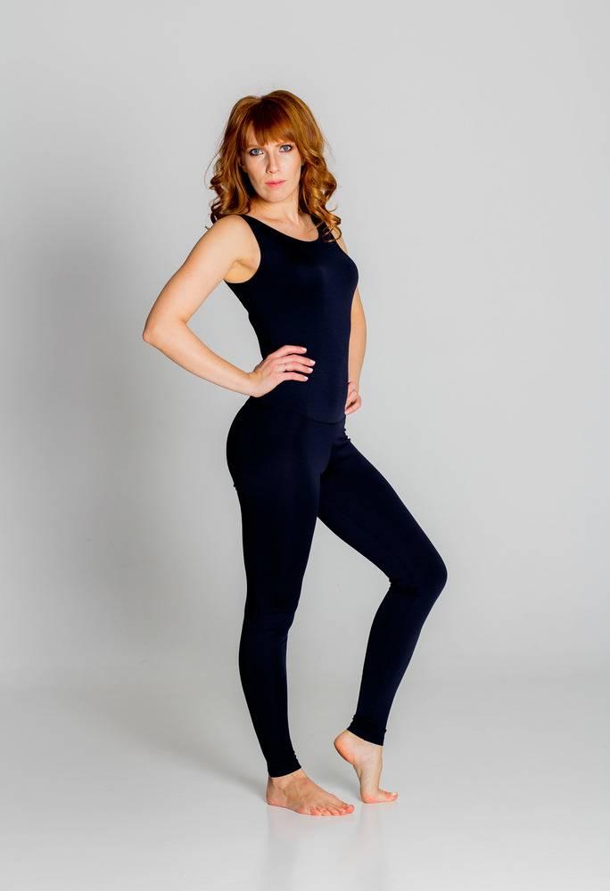 Комбинезон для йоги и фитнеса без рукавов Флора однотонная с открытой спиной