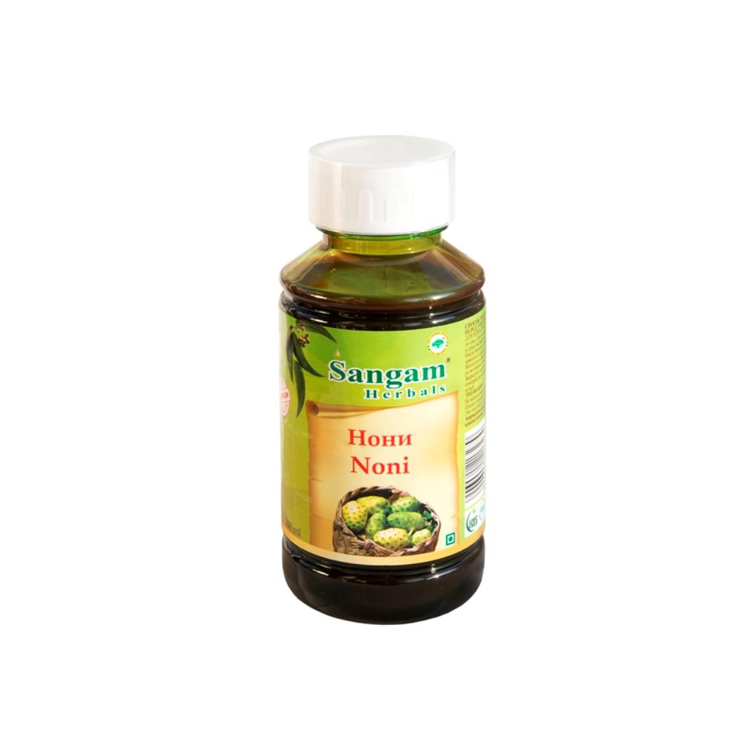 Сок нони Sangam Herbals ( Sangam herbals 500 мл ) сок агуша яблоко и персик с мякотью с 3 лет 500 мл