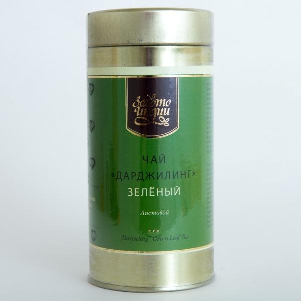Чай зеленый листовой Дарджилинг Золото Индии (100 г)