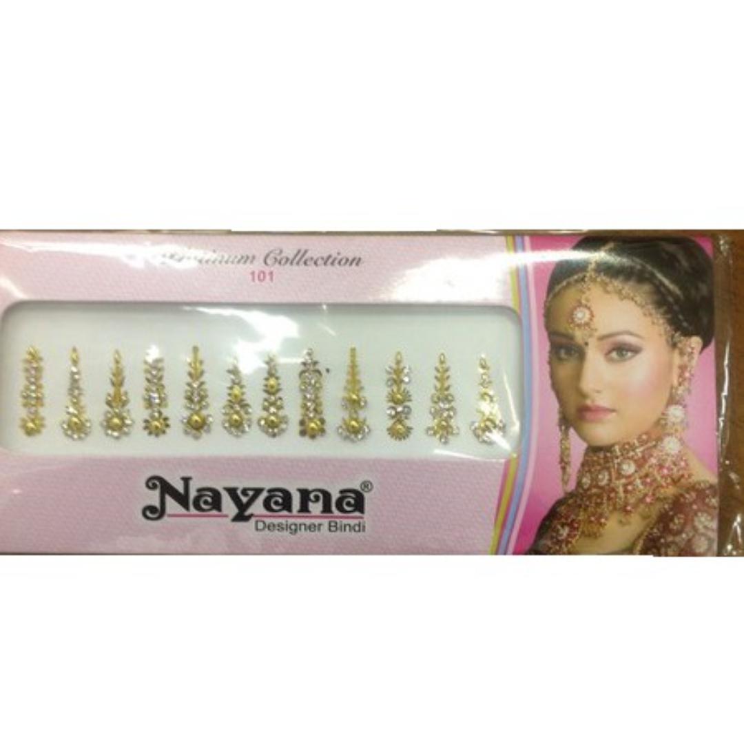 Nayana бинди со стразами золотистые