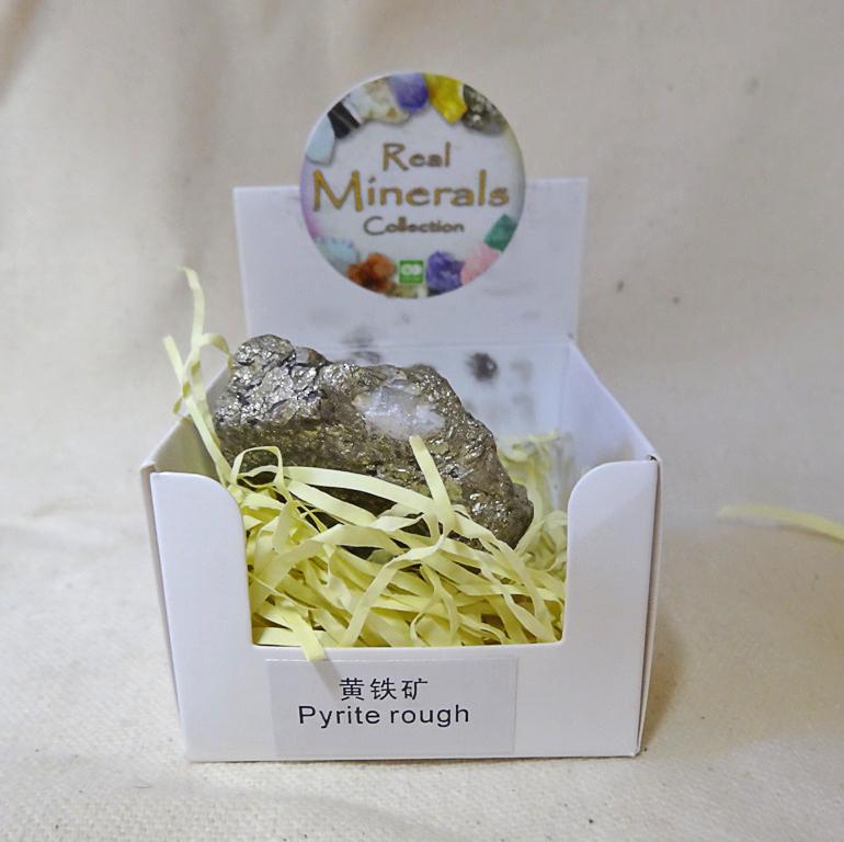 Пирит грубый минерал/камень в коробочке Real Minerals Collection турмалин минерал камень в коробочке real minerals collection