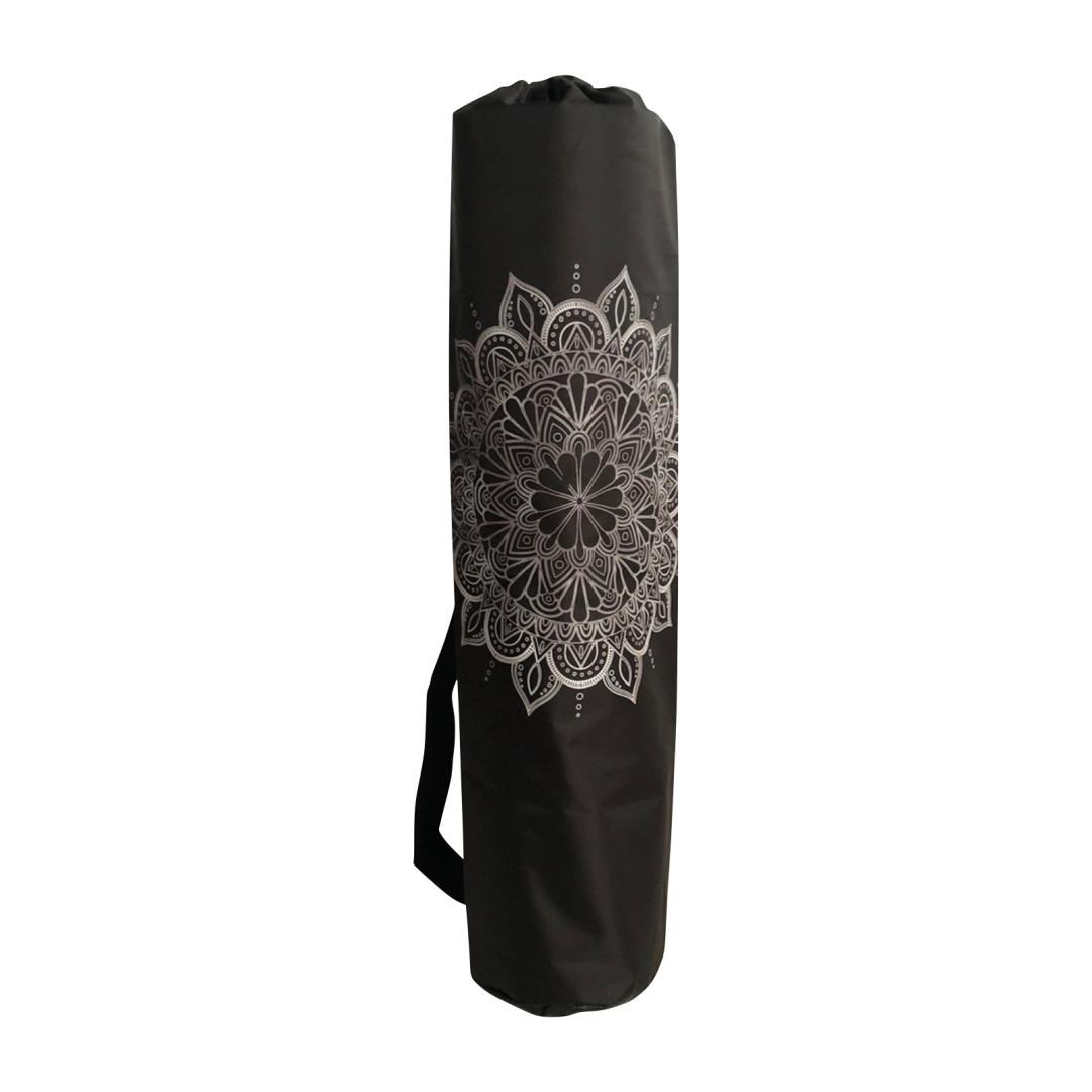 стяжка для йога коврика рамайога 0 1 кг черный Чехол для коврика Мандала Рамайога (0,1 кг, 16 см, 60 см, черный)