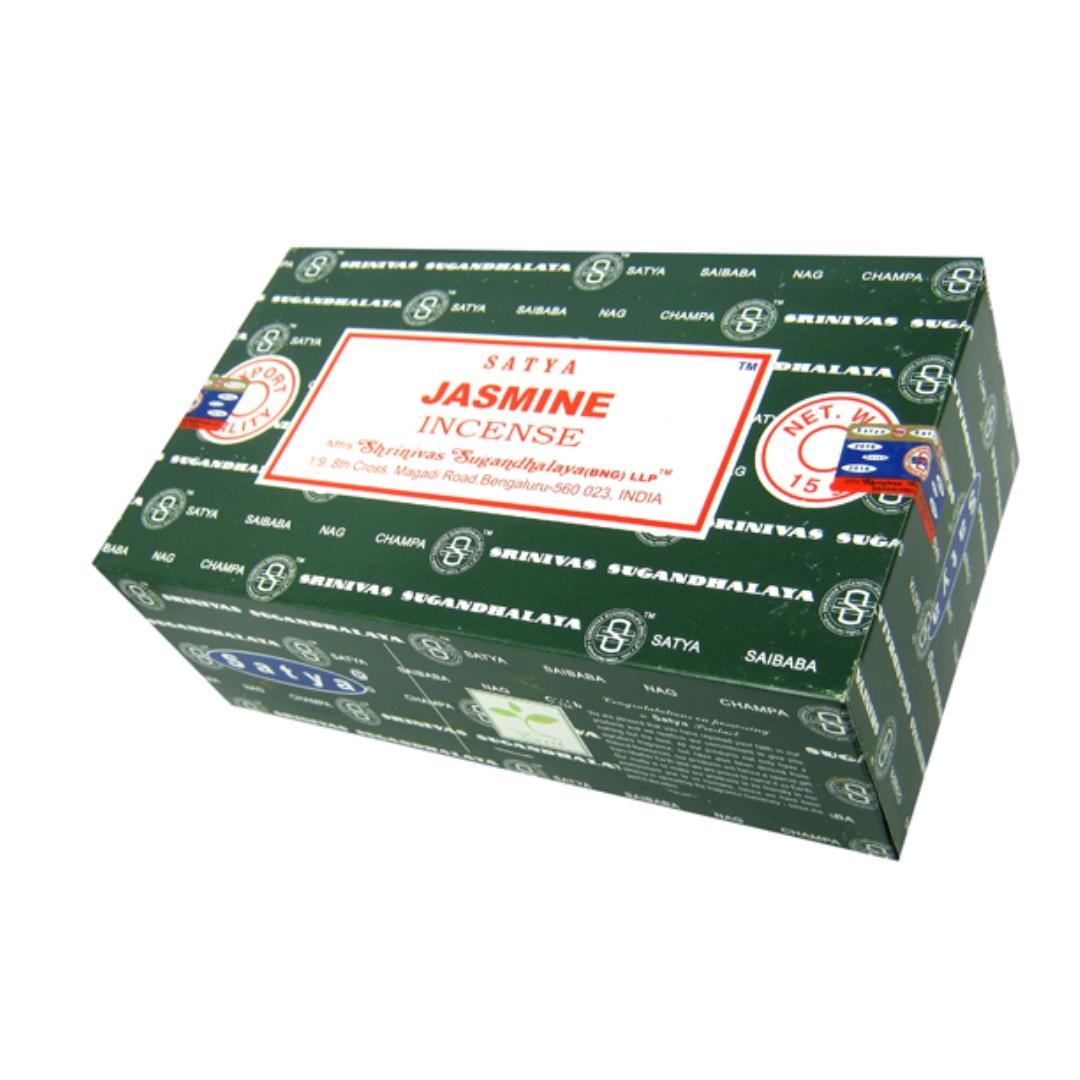 Благовония жасмин jasmine Satya серия incense (0,05 кг, 15 г, зеленый)