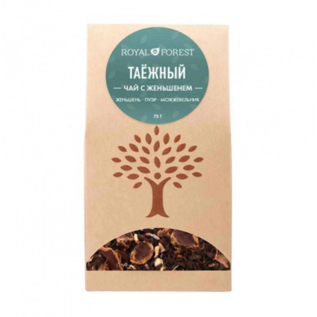Чай таежный с женьшенем Royal Forest (75 г) сироп топинамбура royal forest