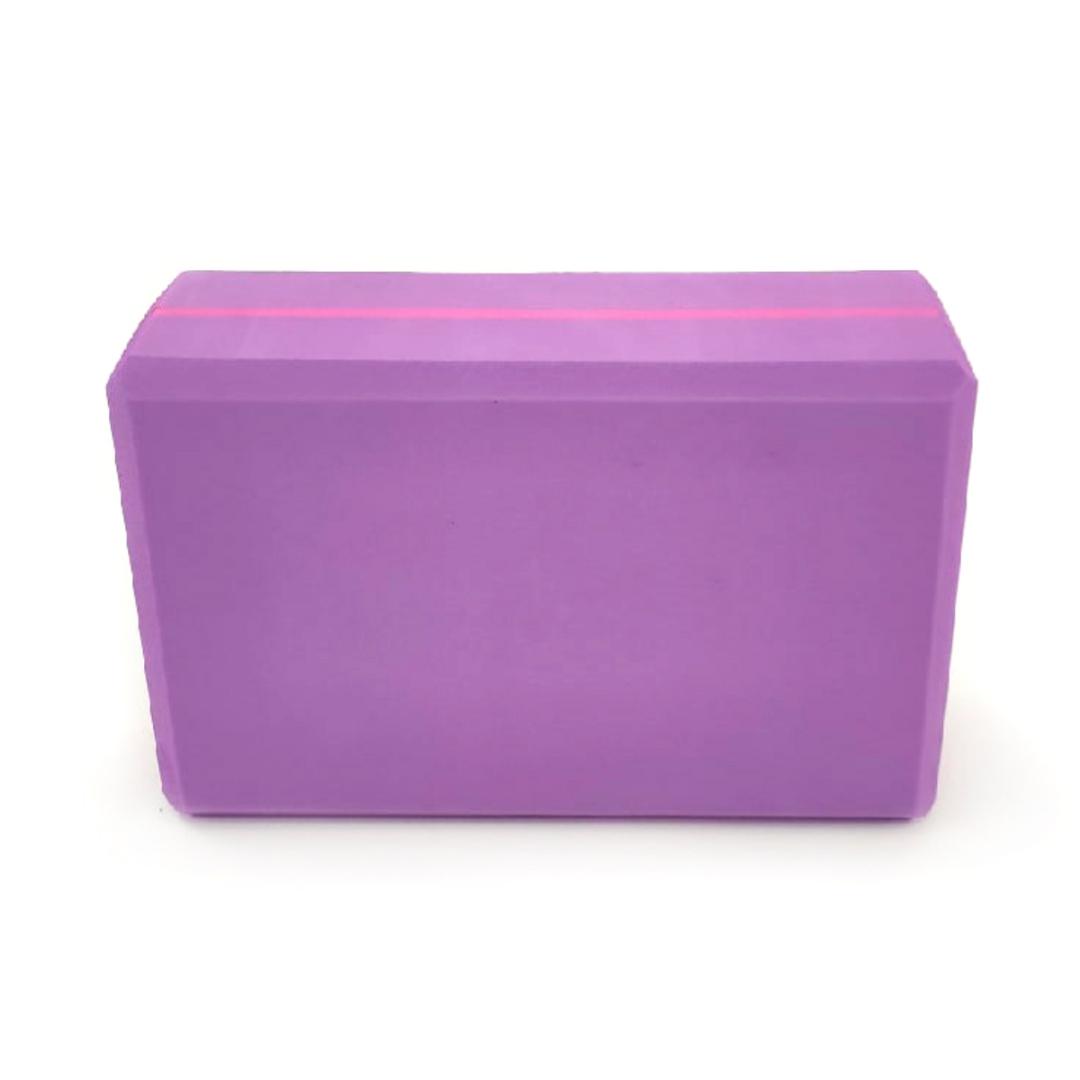 Кирпич для йоги плотный EVA Рамайога (0,6 кг, 8 см, 23 фиолетовый, 15 см)