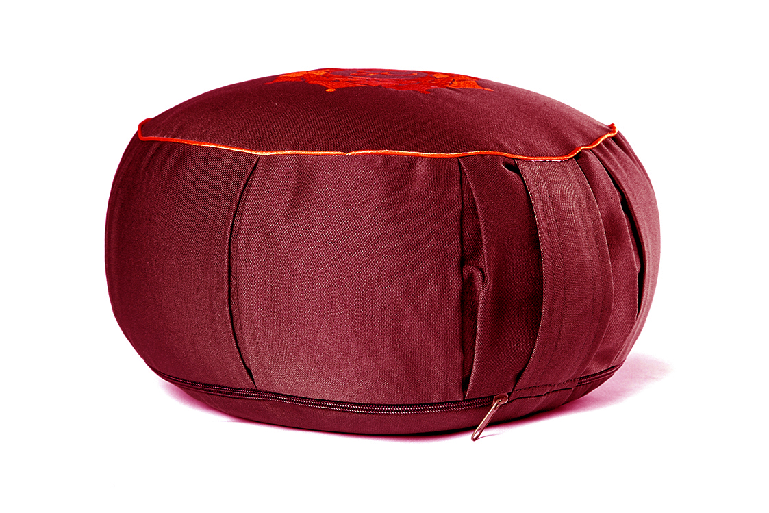 Подушка для медитации Ом (2 кг, бордо) подушка для медитации spiritual