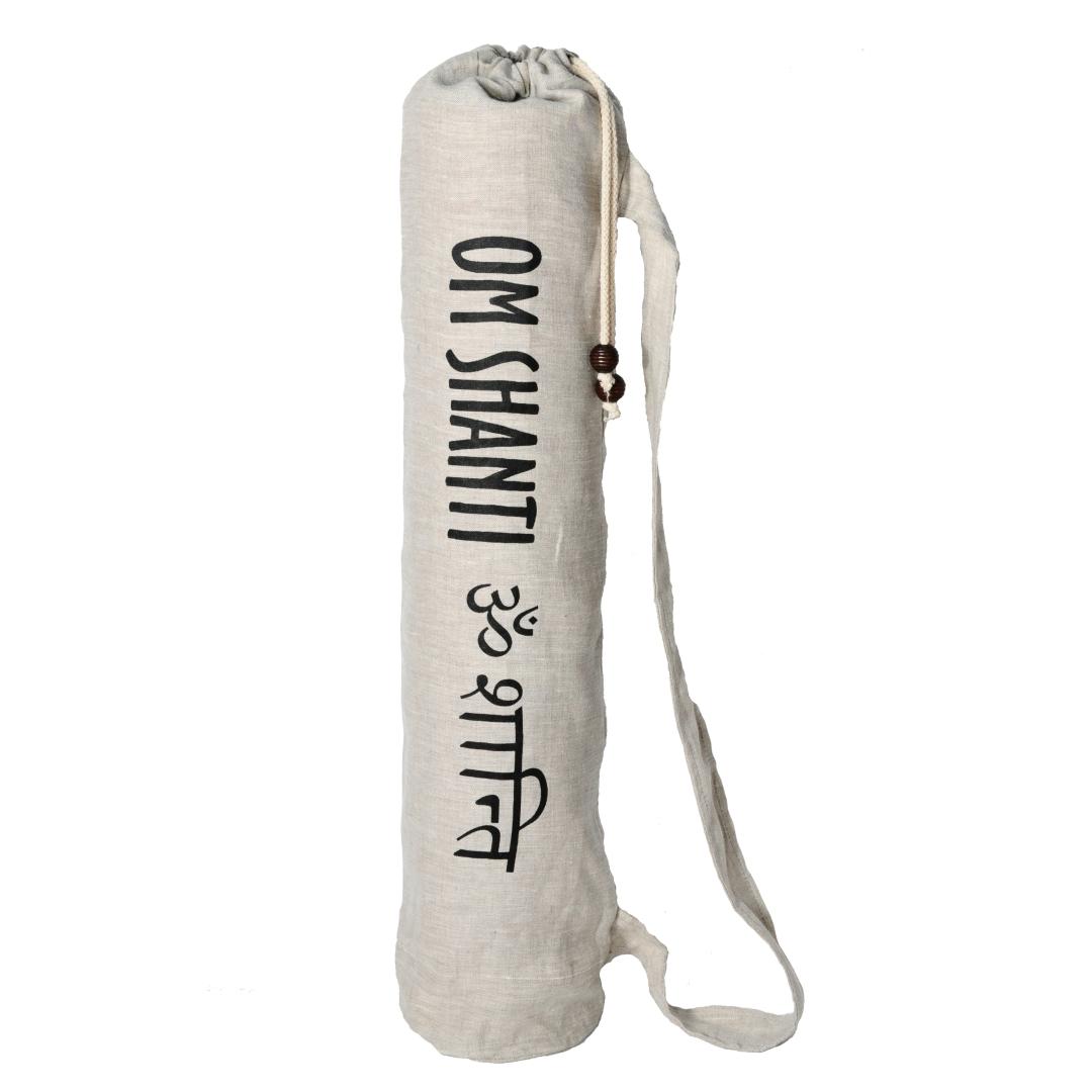 Чехол для коврика Om Shanti льняной (0.2 кг, 15 см, 70 см, серый)