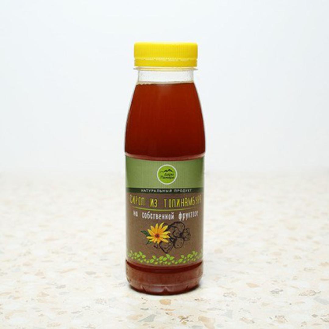 Сироп из клубней топинамбура натуральный, без сахара Дары Памира (330 г, пластиковая бутылка) сироп топинамбура royal forest