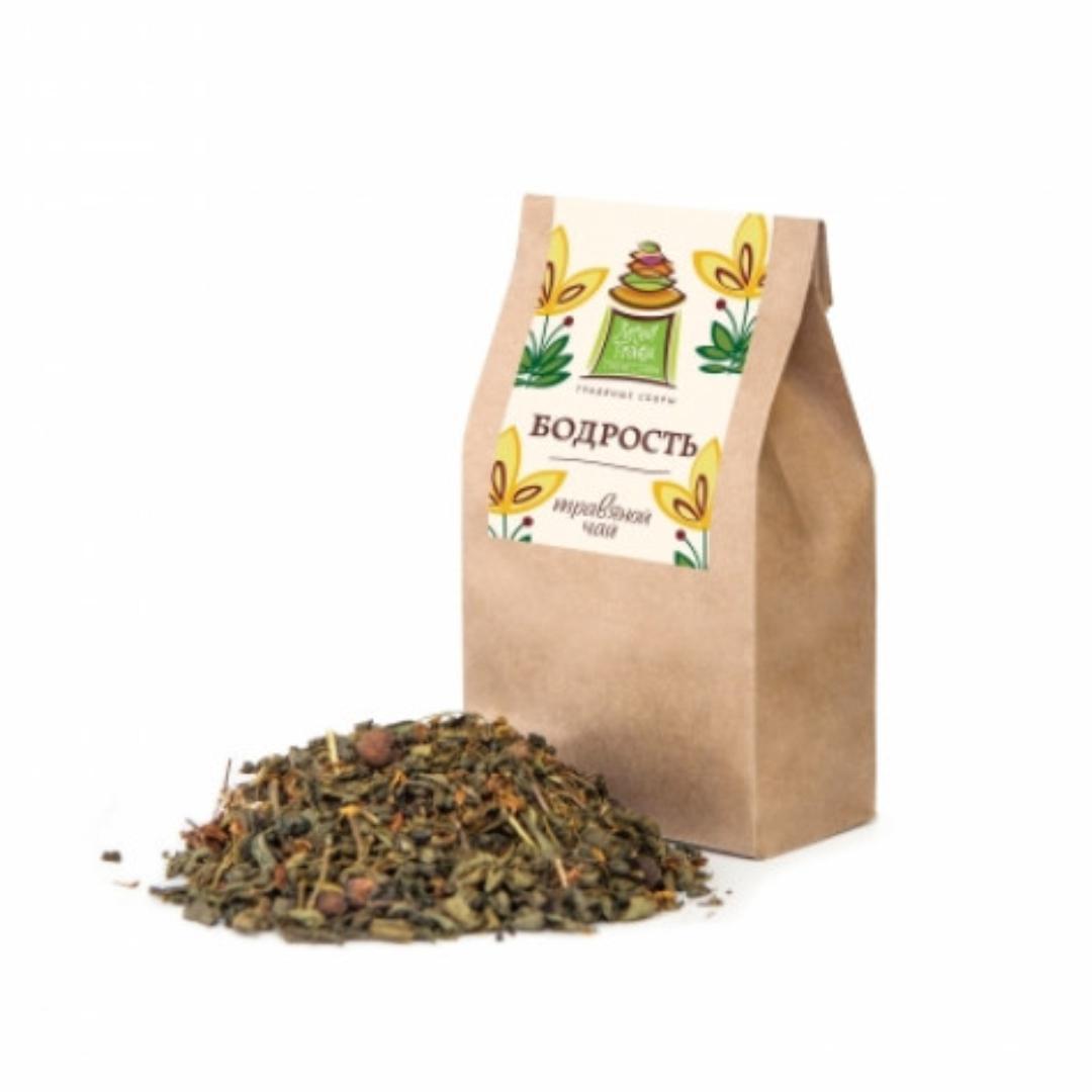 Чай травяной бодрость 50г (50 г) черный ароматизированный чай брусничный