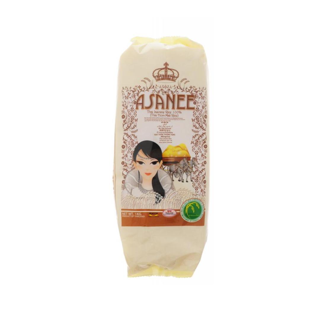 Рис тайский жасмин премиум класса Asanee (1 кг) рис мистраль жасмин белый фасованный ароматный 500г