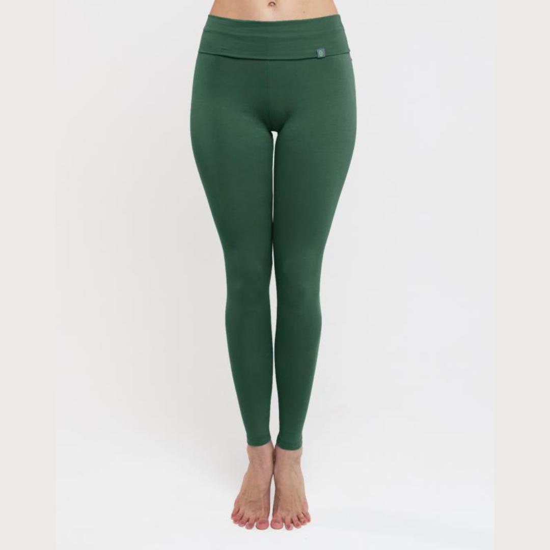 Леггинсы женские Simple темно-зеленые YogaDress (темно-зеленый L (48)) ur женской городская мода случайных брюки дикие тонкие простые темно серые леггинсы yu36r6cn2000 l