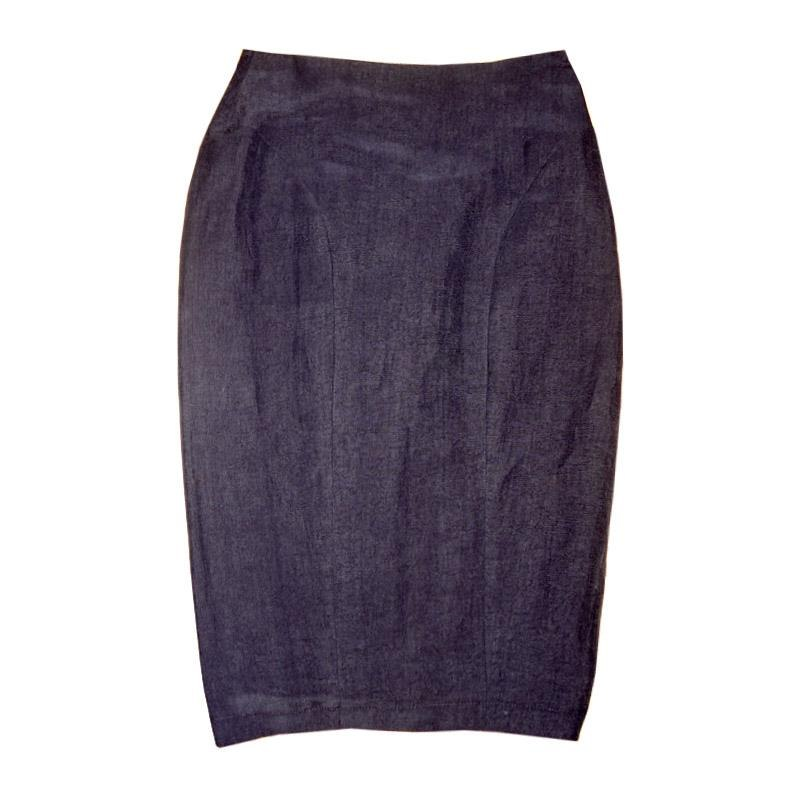 Юбка Lady Skirt из органического льна и шелка Chillife. топ muse из синего льна chillife