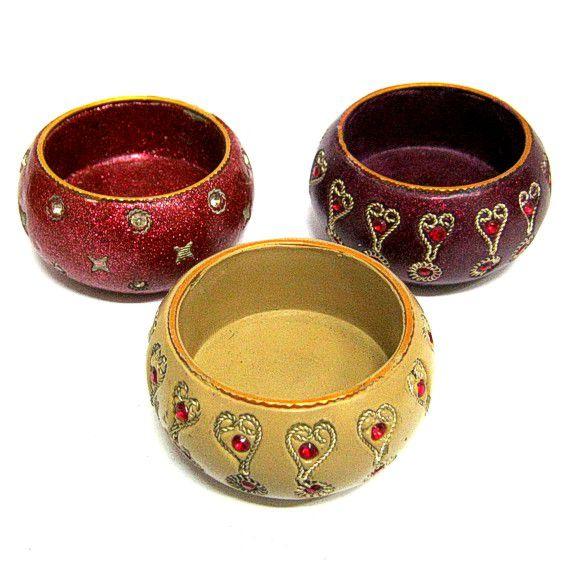 Подсвечник для чайной свечи 5,5см с инкрустацией в ассорти (5,5 см)