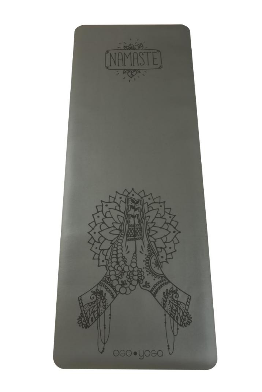Коврик для йоги Namaste EGOyoga из полиуретана и каучука (3 кг, 183 см, 4 мм, серый, 68см)