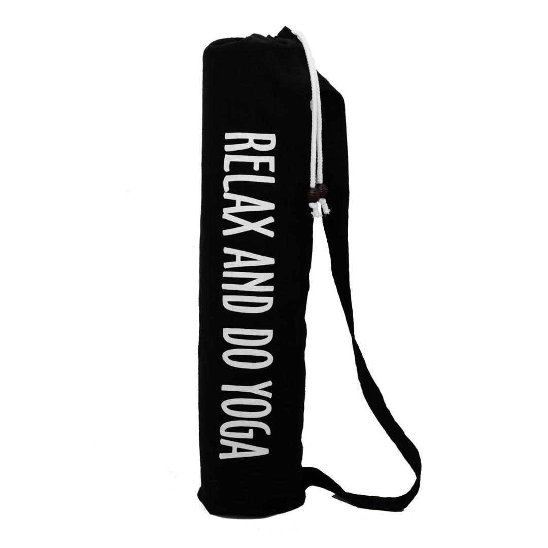 Чехол для коврика Do Yoga льняной (15 см, 70 см, черный)