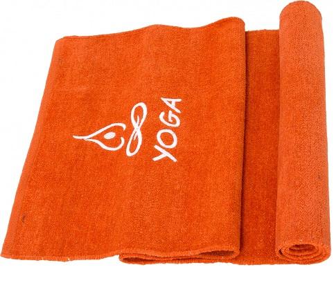 Коврик для йоги из хлопка Orange + чехол (1.2 кг, 190 см, 5 мм, оранжевый, 60см)