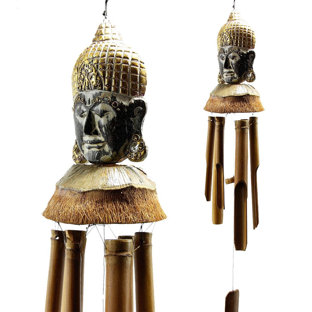 Музыка ветра из кокоса с головой Будды 65см (0,2 кг)
