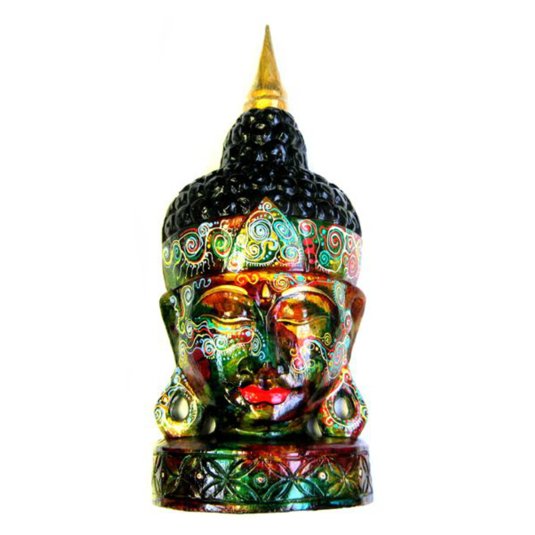 Статуэтка Будда дерево ручная роспись 50х21см (1 кг)