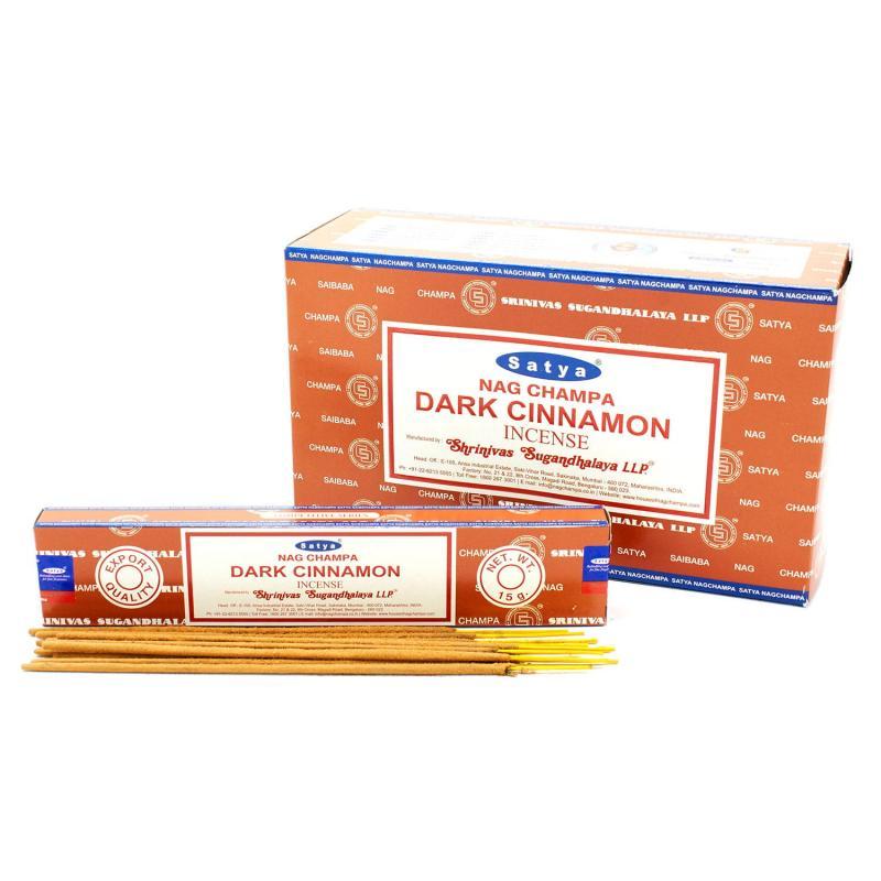 Благовония Темная корица Cатья серия incense / Dark cinnamon Satya (15 г)