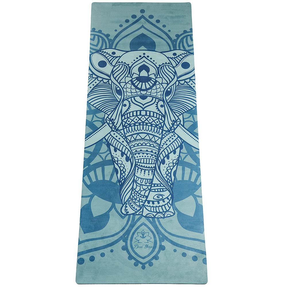 Коврик для йоги Тотем DY (2,2 кг, 185 см, 3.5 мм, синий, 61см) прохладный собака ku gou многофункциональный мешок йоги может разместить толщину 4 6 мм ширины 61 68 см йога коврик серый