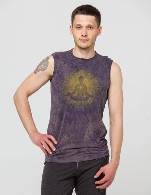 Майка мужская Медитация YogaDress (XL (52), серый (графит))