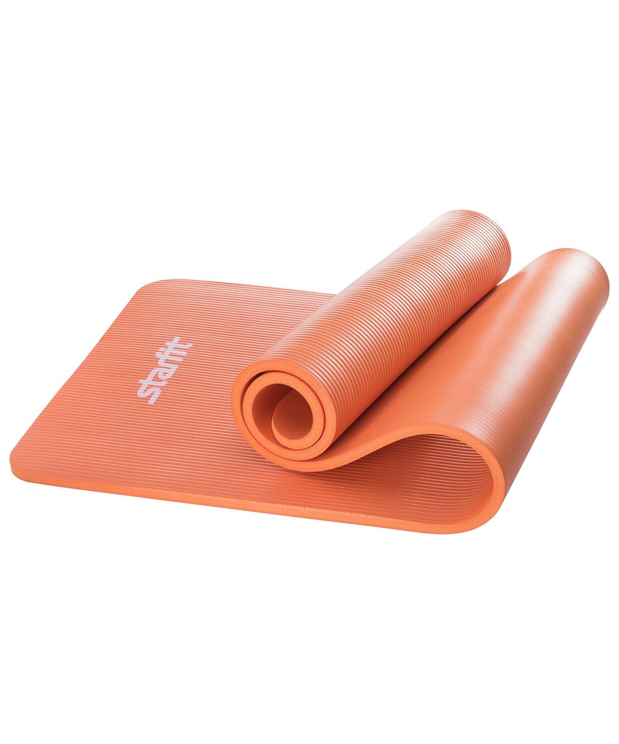 Коврик для йоги и фитнеса Yoga Star 1,5 см (183 см, 1,5 см, оранжевый, 60 см)