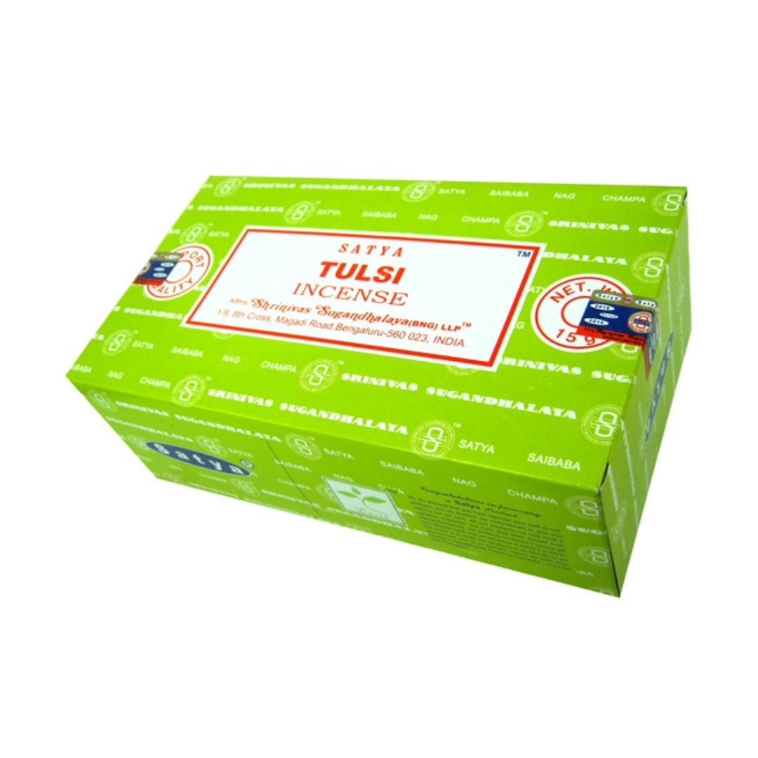Благовония тулси tulsi Satya серия incense (15 г) чай в банке органический имбирь тулси tulsi ginger organic india 100 г