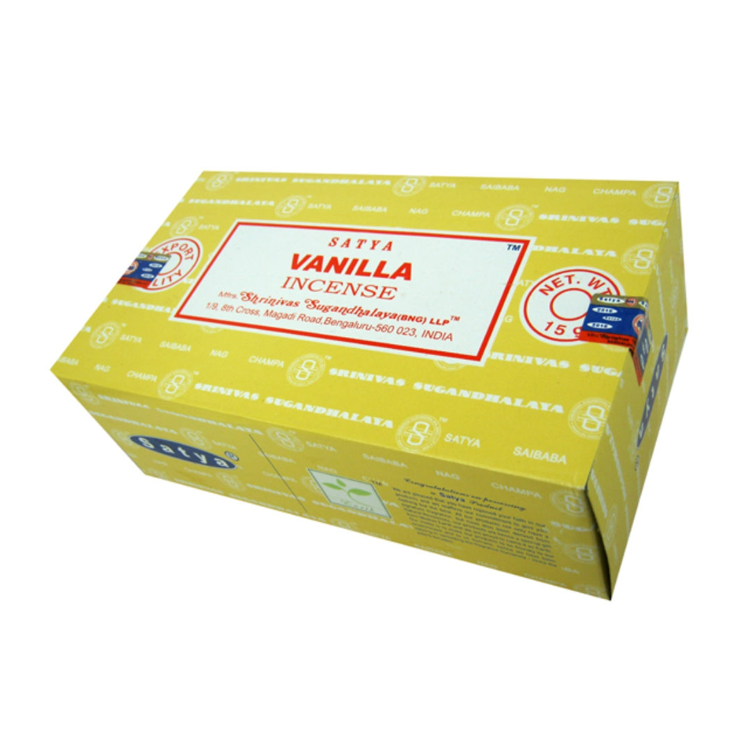 Благовония ваниль vanilla Satya серия incense (0,05 кг, 15 г, желтый)