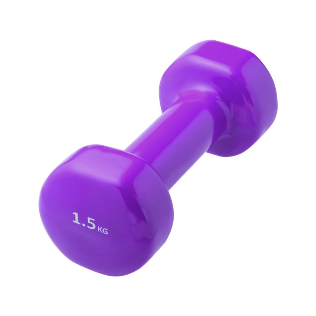 Гантель виниловая 1,5 кг (1.5 кг, фиолетовый)