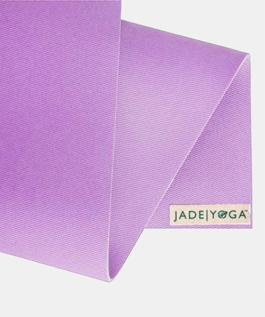 Коврик для йоги Jade Voyager 1.5 мм из каучука (0,7 кг, 173 см, 1.5 мм, сиреневый, 60см) коврик для йоги jade travel 3 мм из каучука jade фиолетовый 185 см 1 5 кг 3 мм 60см
