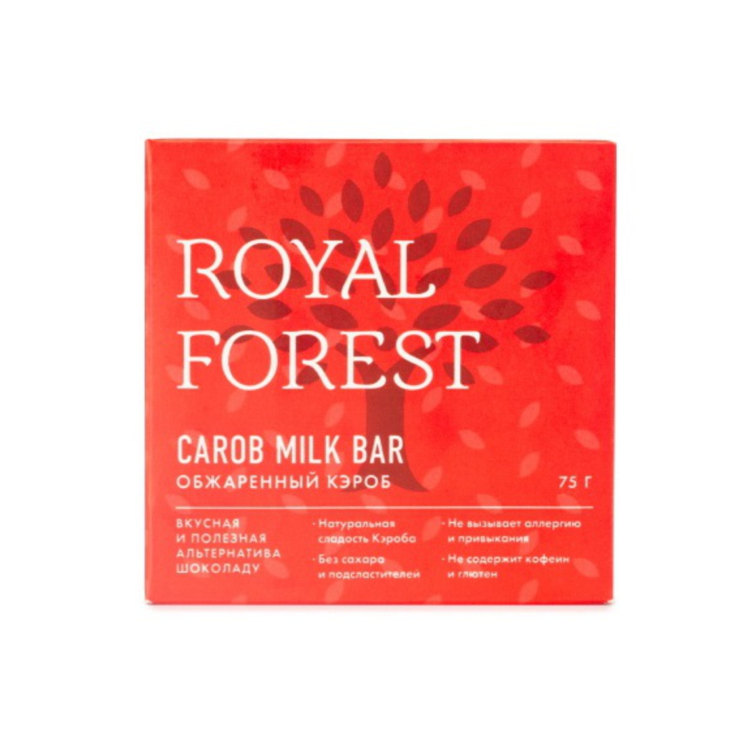 Шоколад из обжаренного кэроба Royal Forest ( Royal Forest 75 г ) valio сыр российский 50