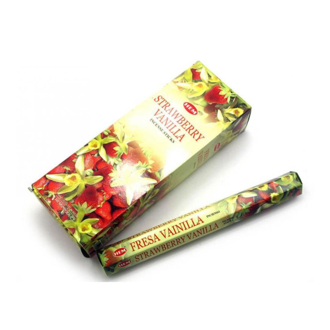 Аромапалочки Ваниль-клубника (Vanilla Strawberry) HEM (20 г) аромапалочки cherry vanilla hexa hem 20 г