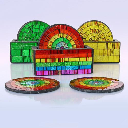 Подставка под горячее Керамика Цветное стекло (SRR6145)