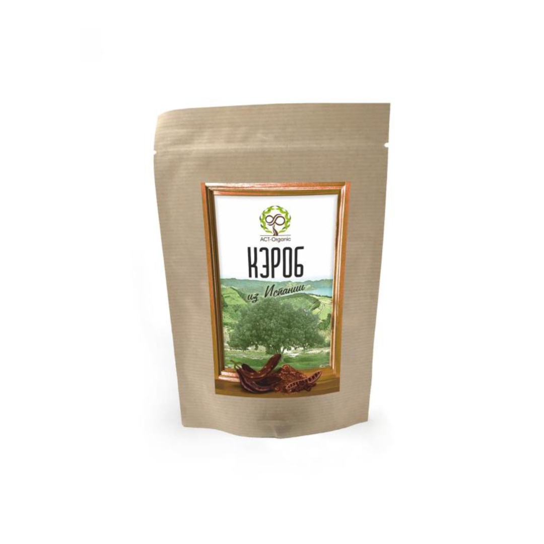 Кэроб порошок средней обжарки из Испании ACT-Organic (100 г) хлорелла порошок из японии act organic 50 г