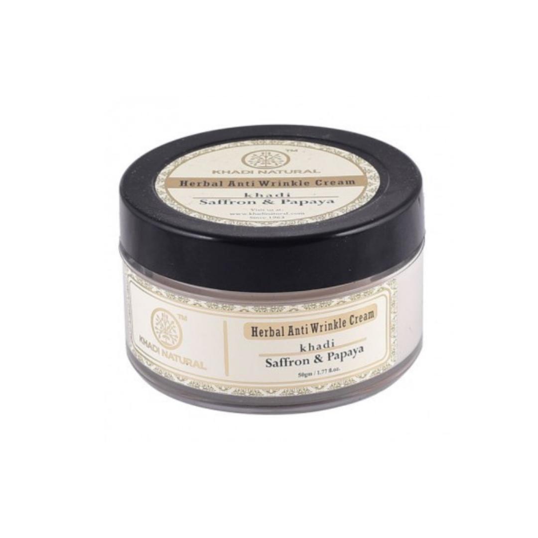 Крем для лица шафран папайа Khadi Natural (50 г) миндальное косметическое масло для лица