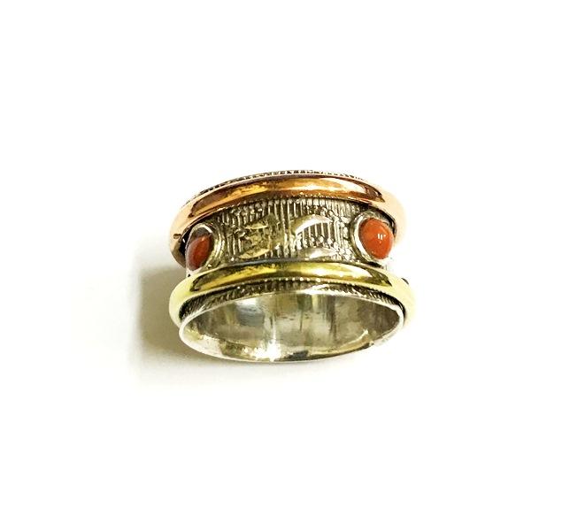 Кольцо прокручивающееся с яшмой №5 подвесная люстра freya fr2405 pl 05 bz