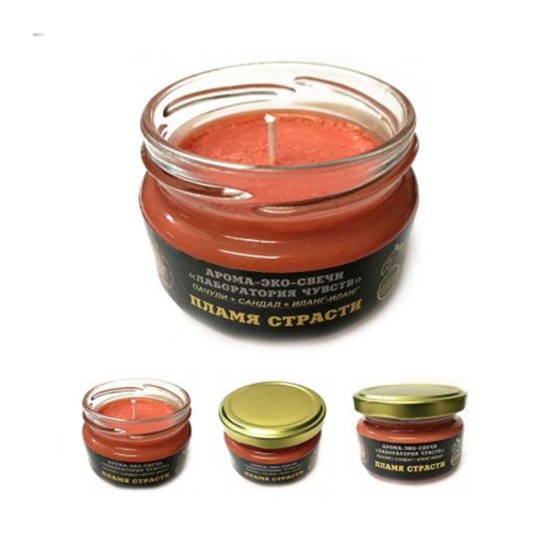 Свеча ароматическая пламя страсти 14 часов горения (паэс02 0.1 кг)