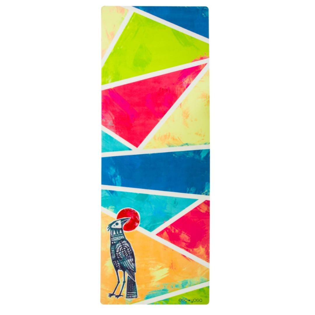 Коврик для йоги City Bird EGOyoga из микрофибры и каучука (2.7 кг, 183 см, 3 мм, ассорти, 66см)
