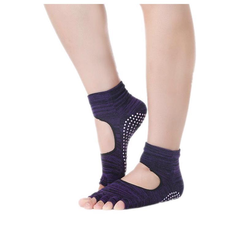 Носки с открытыми пальчиками Health Рамайога (0,1 кг, фиолетовый) носочки с открытыми пальчиками для йоги и пилатеса 0 1 кг лиловый