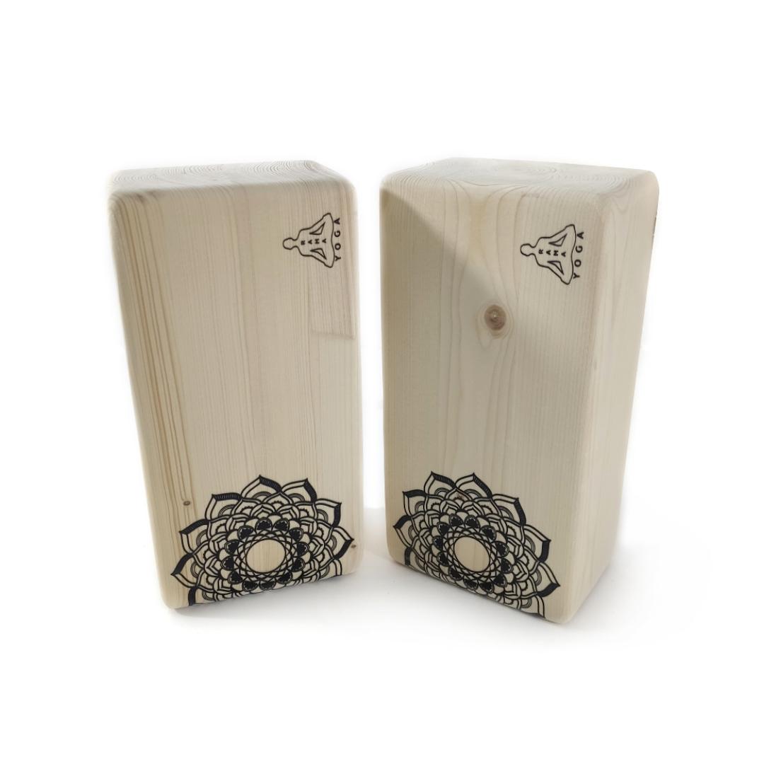 Кирпич для йоги Mandala 1 (1 кг, 8 см, 23 см, бежевый, 11 см) кирпич для йоги полукруглый деревянный лак 1 кг 7 см 23 см