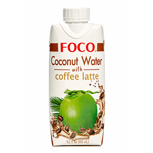 Кокосовая вода с кофе Латте FOCO (330 мл) foco кокосовая вода натуральная 330 мл
