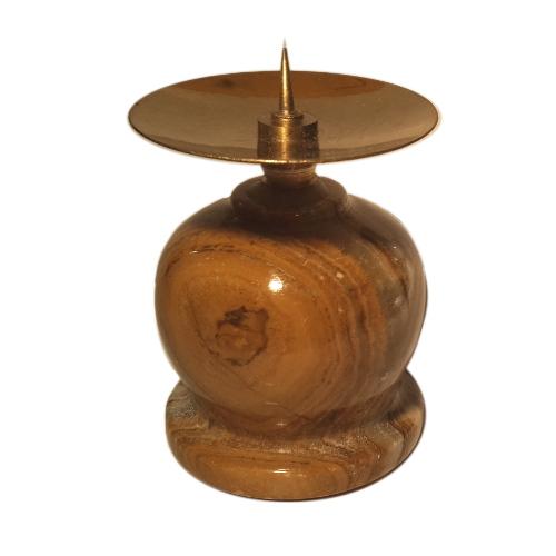 Подсвечник из оникса бочонок с иглой (5 см)